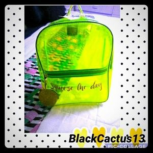Super chick Green Clear bag 💚